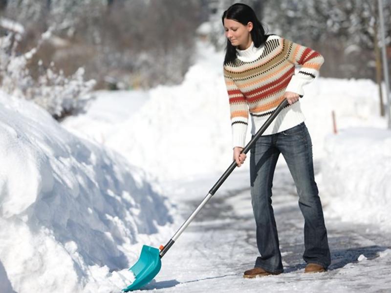 Очистка сада от снега